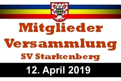 Mitgliederversammlung SV Starkenberg 2019 post thumbnail